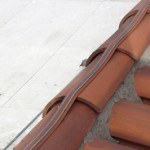 Avishock bird deterrent fitted to the topmost edge of roof tiles