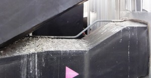 Pigeon guano on an air conditioning module on a rooftop plant room in Newcastle