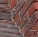 Birdwire installed on a chimney breast using spilt pins